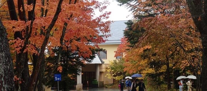 軽井沢  星野エリア ホテルブレストンコート 紅葉 2017年10月29日雨