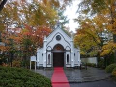 旧軽井沢礼拝堂 紅葉