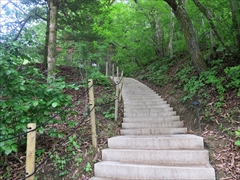 階段先がピッキオセンター