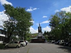聖パウロカトリック教会の裏 若葉 新緑 軽井沢