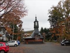 教会裏側 28日雨