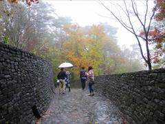 軽井沢 石の教会 石の通路