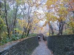 軽井沢 石の通路(奥から入口方向)