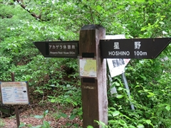 野鳥の森道しるべ