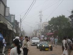 濃霧の旧軽井沢銀座通り