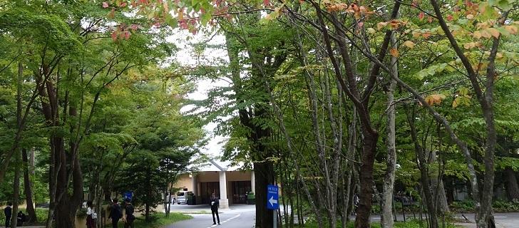 軽井沢のホテルブレストンコートの秋
