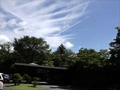 ホテル鹿島ノ森 飛行機雲