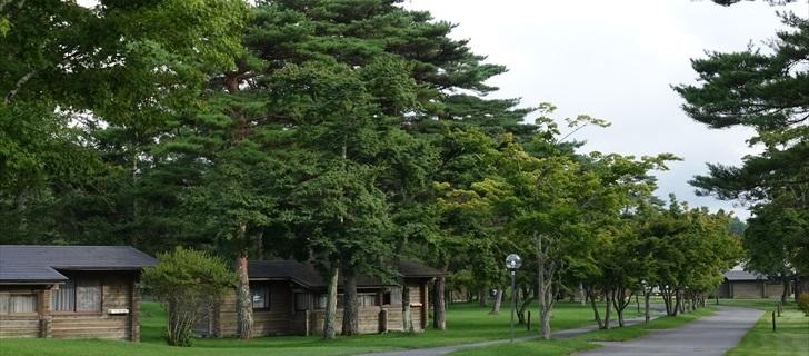 軽井沢プリンスホテルウエスト コテージと木々