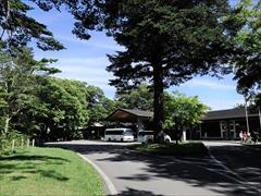 軽井沢 プリンスホテルウエスト 正面玄関付近