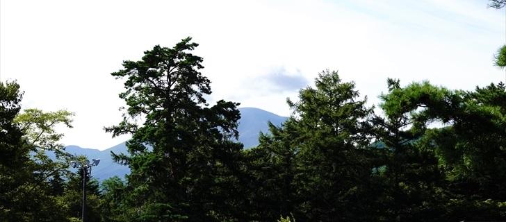 軽井沢 プリンスホテルウエスト 軽井沢 プリンスホテルウエストから浅間山を望む 2018年8月18日