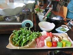 クレソンと春の彩り鍋
