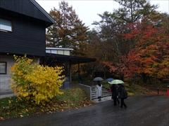 村民食堂入口 紅葉