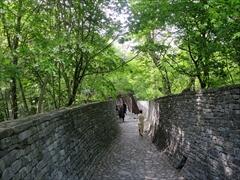 石の教会 石の通路