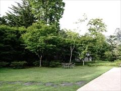 軽井沢 ハーヴェストクラブ 右の中庭