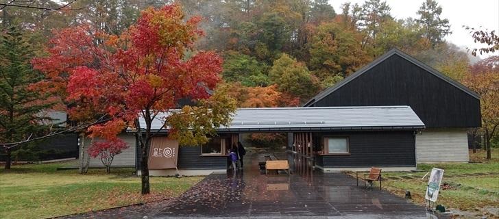 軽井沢 星野エリア トンボの湯 紅葉 2017年10月29日雨