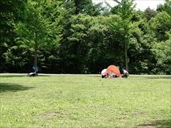軽井沢 湯川ふるさと公園 芝生広場