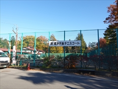 軽井沢会テニスコート 10.28