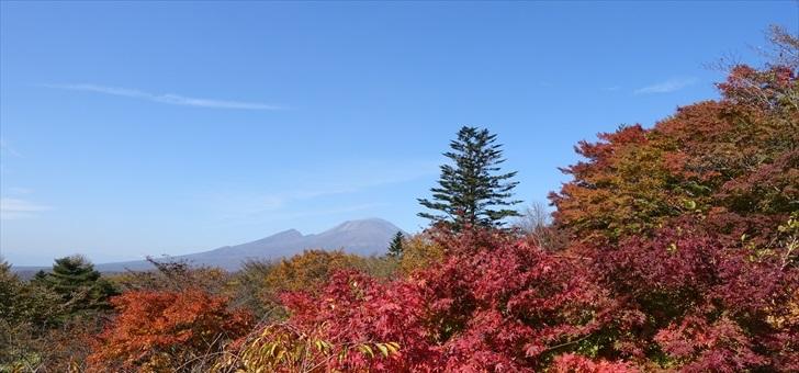 軽井沢 見晴台から浅間山を望む