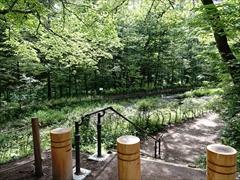 軽井沢 雲場池 遊歩道の折返し地点