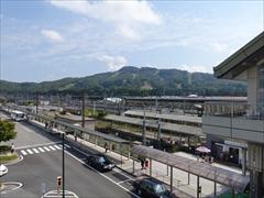 軽井沢駅北口前の道路