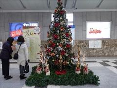 軽井沢 改札口前クリスマスツリー