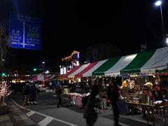 軽井沢 クリスマスマルシェ 夜