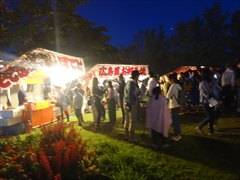 軽井沢 矢ヶ崎公園 盆踊り 出店