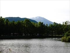 軽井沢 矢ヶ崎公園・大賀ホール 離山・浅間山